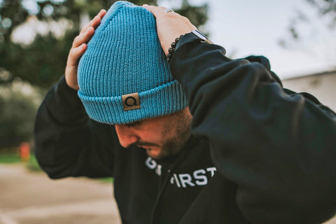 Bronx Beanie w/leather tag