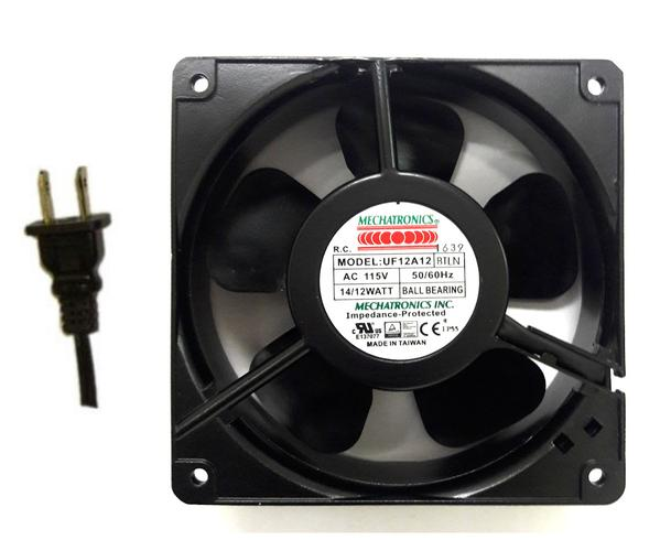 New Fan:  Mechatronics 120x38mm 115V low speed IP55 Rated AC Fan #UF12A12-BTLNR