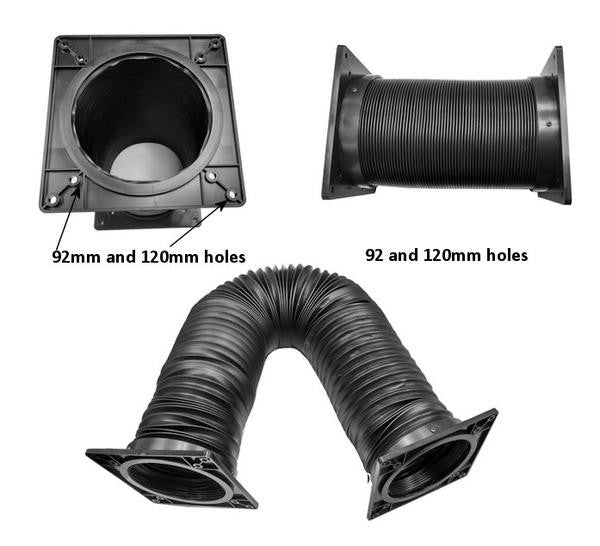 Back in stock.  Coolerguys 92mm / 120mm Flexible Vent Duct Tubing