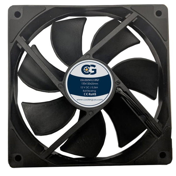 New Product! Coolerguys Dust and Waterproof IP67 Series Fan CG12025H12