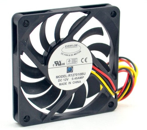 New Stocks! Everflow 70mm Ultra High Speed 12v 3Pin Fan R127010BU