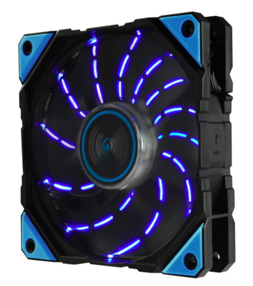 New Stock! Enermax DF 120x120x25mm 12v Blue LED Adjustable Speed Fan