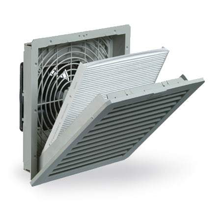 "Pfannenberg PF 42500 4.0 10"" Nema 12 Filter Fan 11642154055 - Coolerguys"