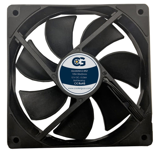 Coolerguys 120mm (120x120x25) 3000 RPM IP67 12v Fan CG12025H12 - Coolerguys