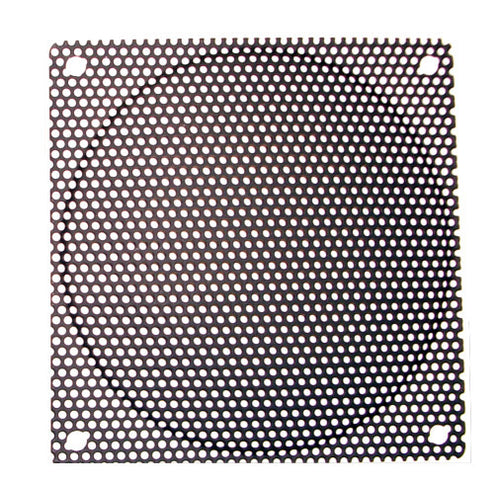 120mm Steel Mesh Filter Grill (Black/Silver, 1.1mm/0.9mm) - Coolerguys