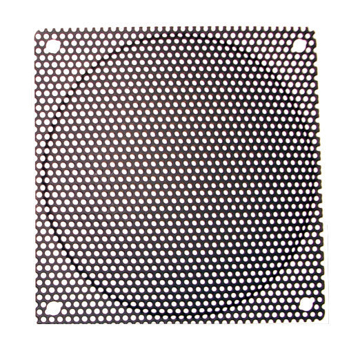 120mm Steel Mesh Filter Grill w/1.1mm diameter hole, Black or Silver