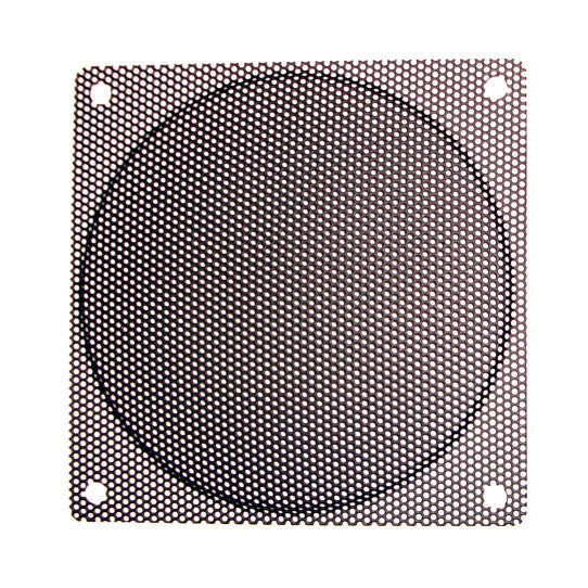 120mm Steel Mesh Filter Grill W 9mm Diameter Hole Black