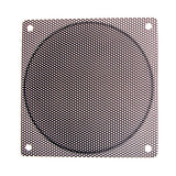 120mm Steel Mesh Filter Grill w/.9mm diameter hole, Black or silver