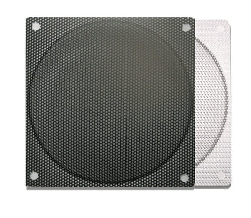 120mm Steel Mesh Filter Grill w/.9mm Diameter Hole (Black/Silver) - Coolerguys