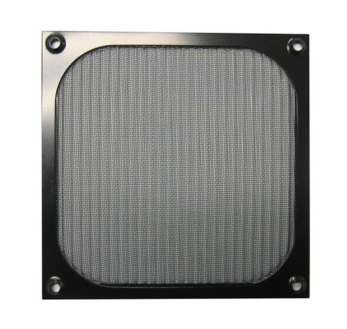 140mm Aluminum Mesh Fan Filter Grill, Black - Coolerguys