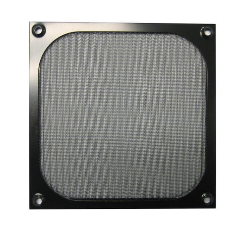 140mm Aluminum Mesh Fan Filter Grill, Black