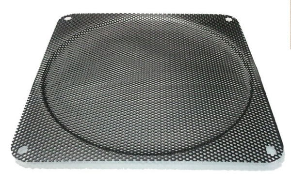 140mm Fine Steel Mesh Filter Grill w/.9mm diameter hole Black