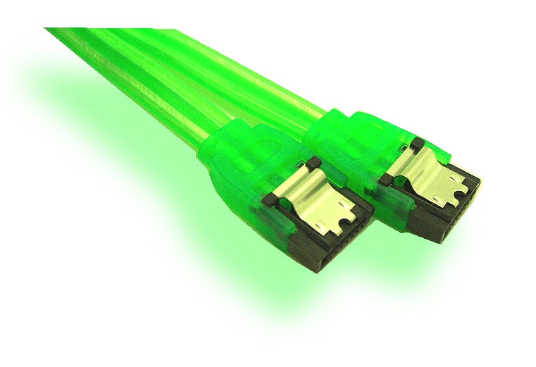 18in Serial ATA UV Cable (green) - Coolerguys