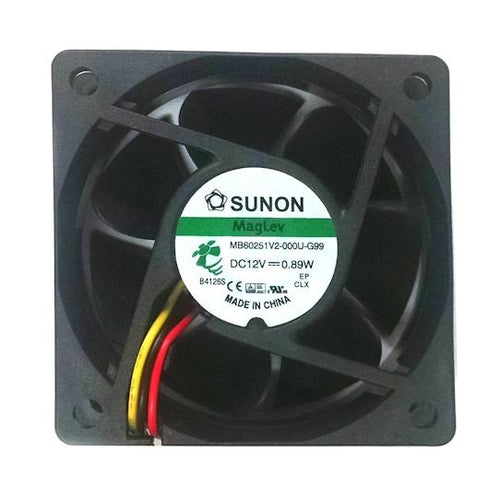 Sunon 60x60x25mm Medium Speed Fan 3 Pin-KD1206PTV2 / MB60251V2-G99 - Coolerguys