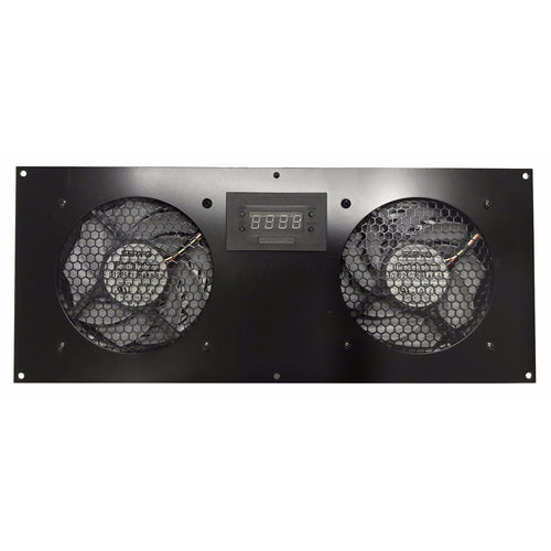 Coolerguys PRO-Metal Dual 120mm Deluxe LED Cabinet Cooling Kit with Gentle Typhoon fans CABCOOL 1202-Deluxe--MGTF
