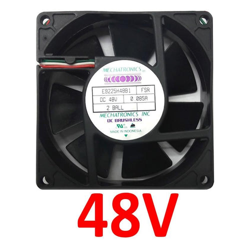 Mechatronics 92x92x25mm 48V Tach Alarm Fan E9225H48B1-FSR - Coolerguys