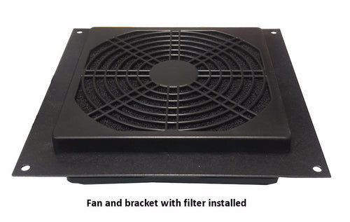 Coolerguys Single 120mm Bracket Kit with Fan and Filter