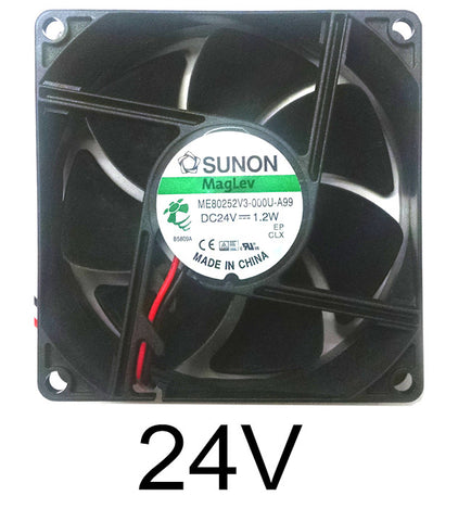 Sunon 80x80x25mm 24 Volt 2 Bare Wire MagLev Bearing Fan ME80252V3-000U-A99