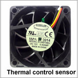 Everflow 60x15mm 12 volt 3 wire/ 3 pin fan with thermistor #R126015BUT