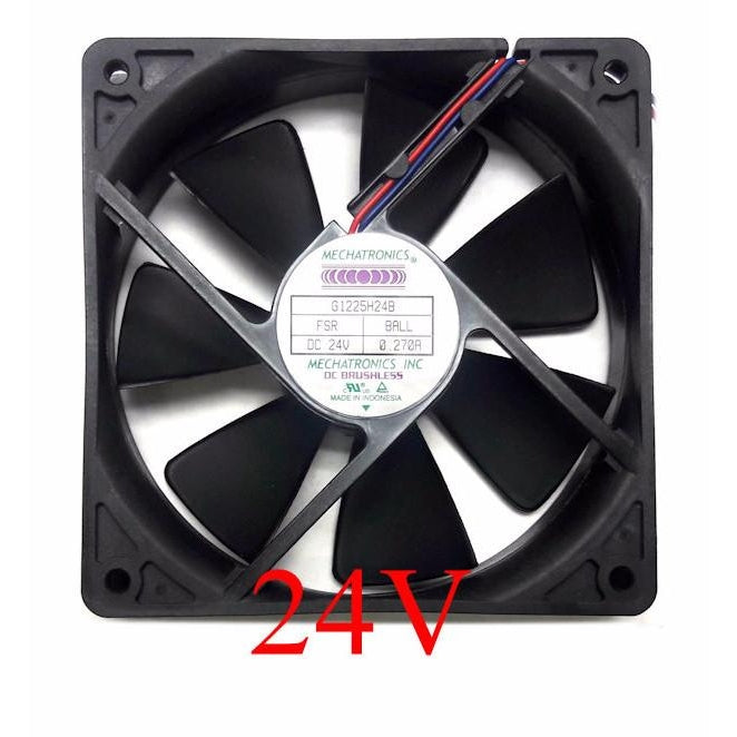 Mechatronics 120x120x25mm 24 Volt High Speed Fan G1225H24B-FSR - Coolerguys