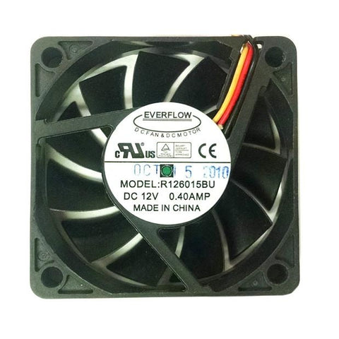 Everflow 60X15mm 12V 3 pin Dual Ball Bearing Ultra High Speed Fan # R126015BU