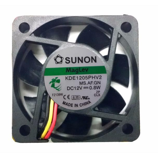 Sunon 50x50x15mm Medium Speed 12 Volt Fan-KDE1205PHV2