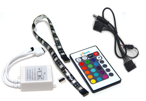 LOGISYS RGB LED Strip and IR Control #LDXRM12C - Coolerguys