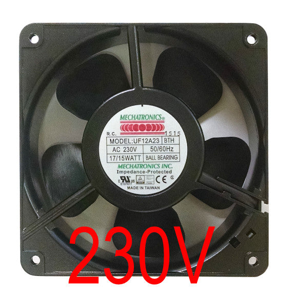 Mechatronics 120x120x38mm 230 Volt High Speed Fan UF12A23-BTHR - Coolerguys