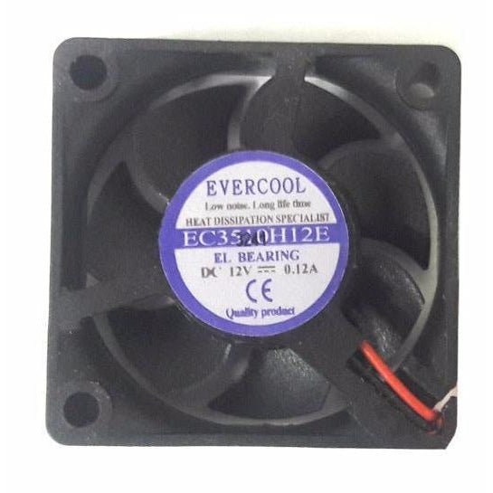 Evercool 35x35x10mm 12 Volt High Everlube Bearing Fan with 2 pin connector P/N-EC3510H12E - Coolerguys
