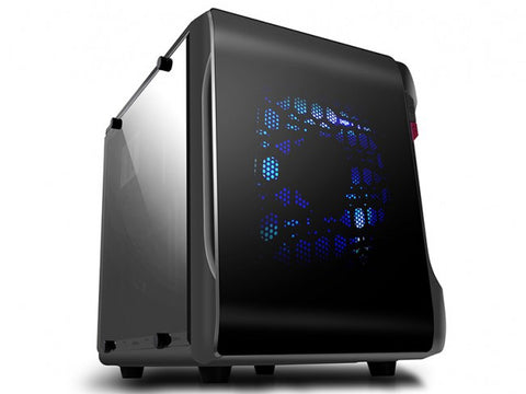 Spire PowerCube 715 Case with dual windows  # SPC715B-CE/R/2W-U3  P/S option