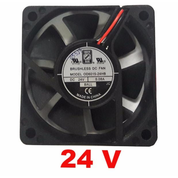 Orion 60x60x15mm 24 Volt Fan with 2 Bare Wire OD6015-24HB - Coolerguys