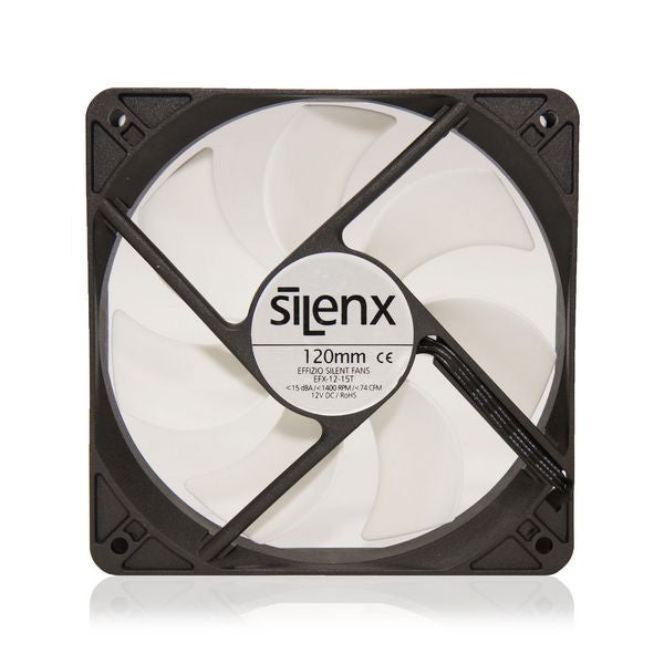 SilenX 120x120x25mm Thermister Fluid Dynamic Bearing Fan EFX-12-15T - Coolerguys