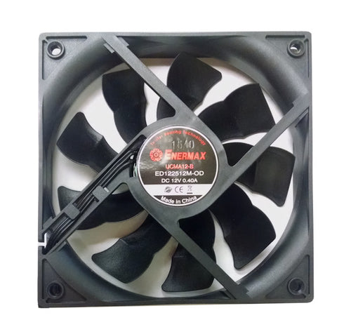 Enermax 120x120x25mm All Black Magma Cooling Fan UC-MA12  ED122512M-OD