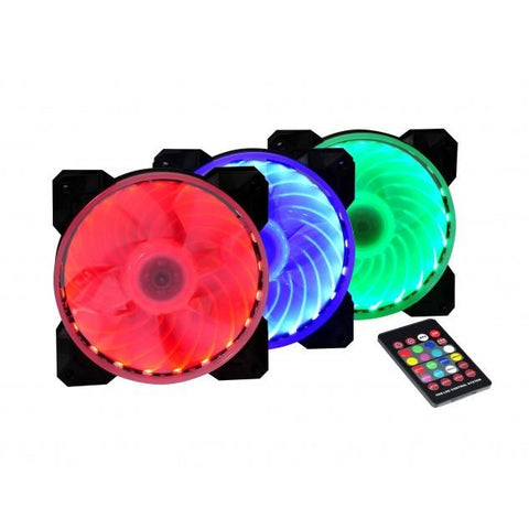 X2 Magic Lantern 120x120x25mm Remote LED Fan 12025S1L6-RGB