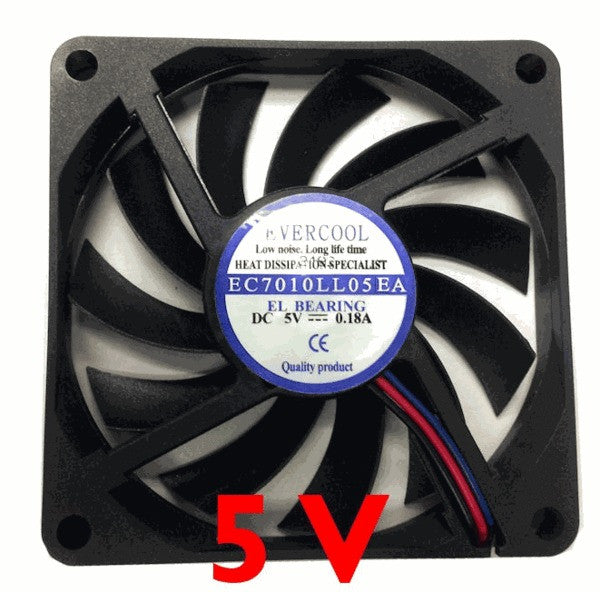 Evercool 70x70x10mm 5 Volt Fan EC7010LL05EA