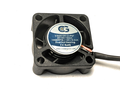 Coolerguys 25mm (25x25x10) IP67 12v Fan - Coolerguys