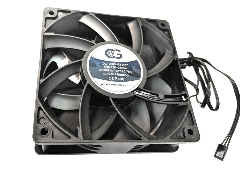 Coolerguys 120mm (120x120x38) High Speed IP67 Fan - Coolerguys