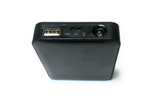 USB Four AA Battery Bank Charger and Portable Power Supply