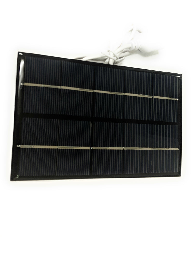 "6""x3.5"" Small Solar Panel with 5v Regulator and USB Connector - Coolerguys"
