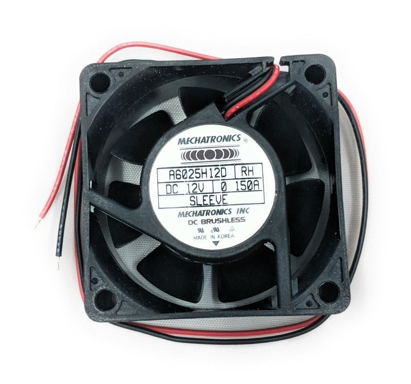 "Mechatronics 60x25mm Fan 12V Bare Leads 13"" Wires A6025H12D-RH - Coolerguys"