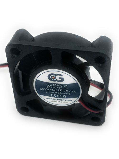 Coolerguys 40mm (40x40x10) 12v Ultra Quiet Fan CG4010L12S for SY124010L - Coolerguys