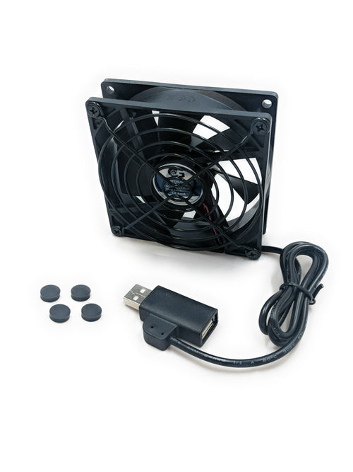 Coolerguys Single 92x92x25mm USB Fan with Grill CG09225L05B2-U - Coolerguys