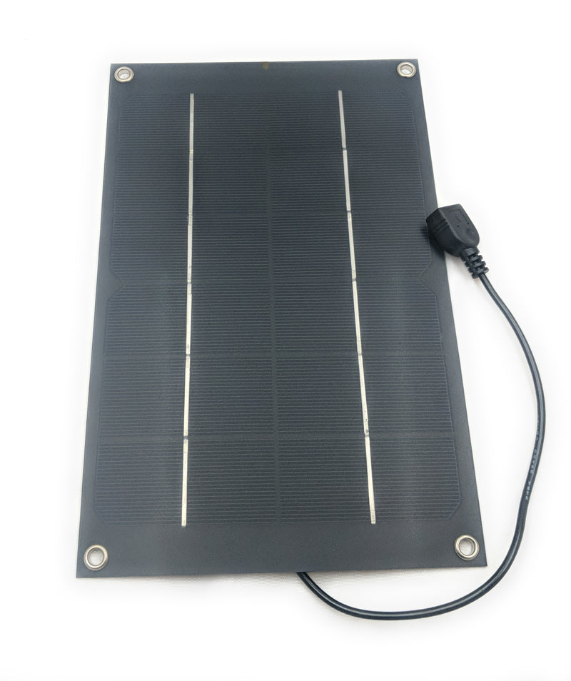 6w Solar Panel with USB Lead (26x17cm) - Coolerguys