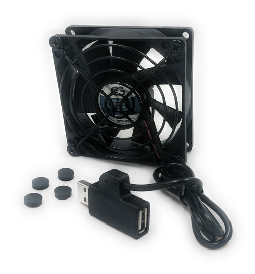 Coolerguys Single 80x80x25mm USB Fan with Grill CG08025L05B2-U - Coolerguys