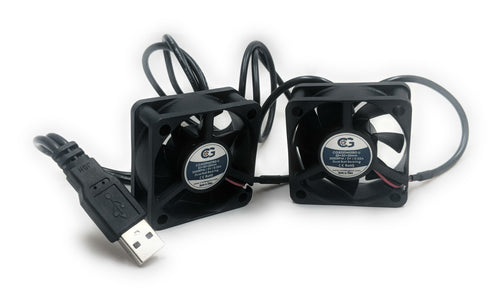 Coolerguys Dual 50mm (50x50x20) Fans with USB Connection - Coolerguys