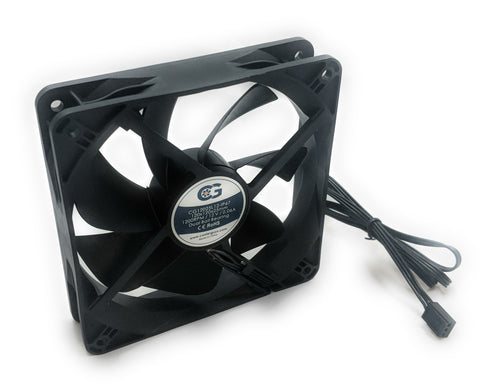 Coolerguys 120mm (120x120x25) Low Speed IP67 Dual Ball Bearing 12v Fan CG12025L12-IP67 - Coolerguys