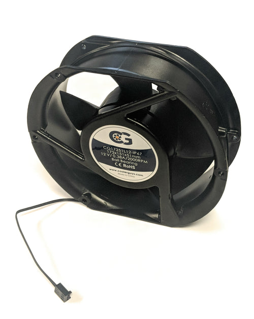 "Coolerguys 172mm (7"") (172x152x51mm) IP67 Waterproof 12v Fan - Coolerguys"