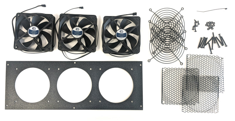 Coolerguys Triple 120mm Bracket Kit with Fan - Coolerguys