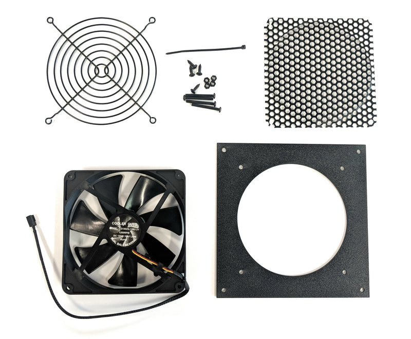 Coolerguys Single 140mm bracket kit with Fan - Coolerguys