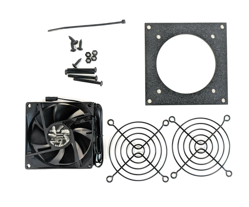 Coolerguys Single 80mm Bracket Kit with Fan - Coolerguys